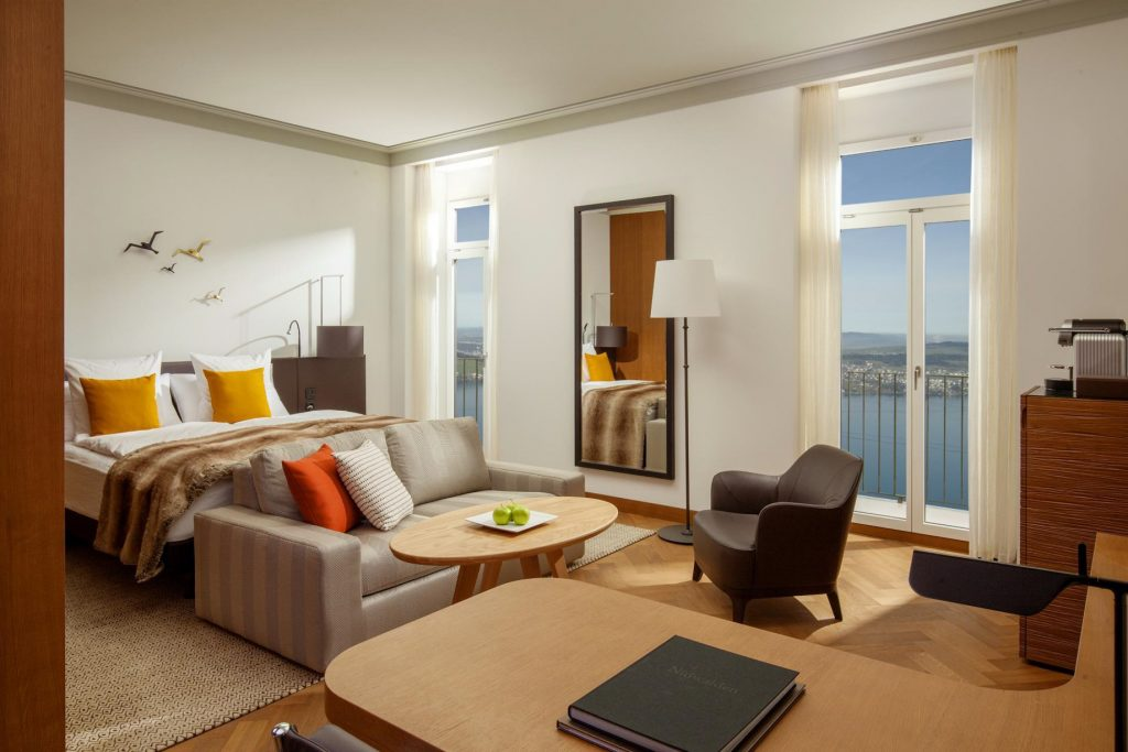 Palace Hotel - Burgenstock Hotels & Resort - Obburgen, Switzerland - Superior Room Lake View