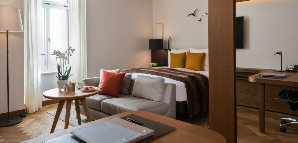 Palace Hotel - Burgenstock Hotels & Resort - Obburgen, Switzerland - Superior Room Lake View Bedroom
