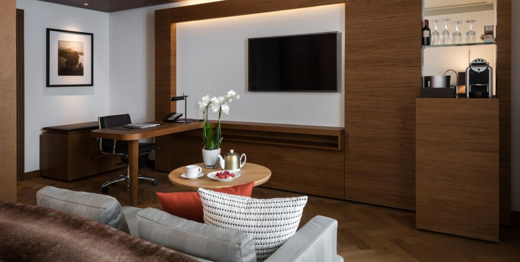 Palace Hotel - Burgenstock Hotels & Resort - Obburgen, Switzerland - Superior Room Living Area