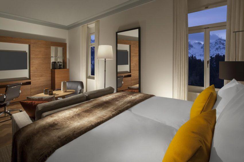 Palace Hotel - Burgenstock Hotels & Resort - Obburgen, Switzerland - Superior Room Alpine View Bedroom