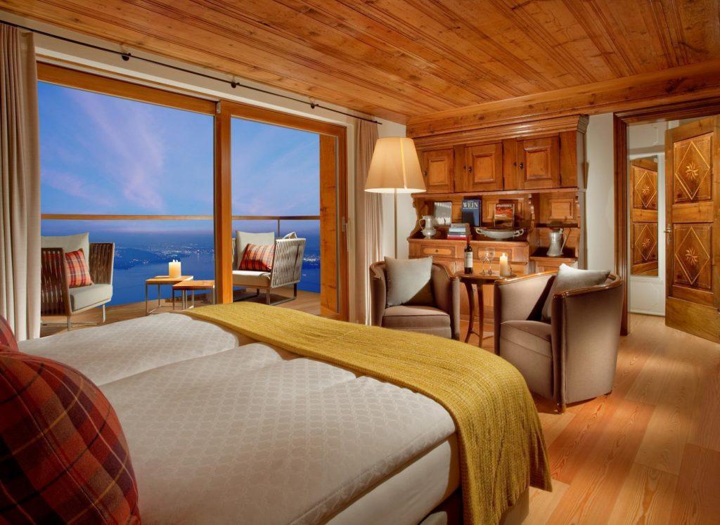 Palace Hotel - Burgenstock Hotels & Resort - Obburgen, Switzerland - Blockhaus Residence Bedroom
