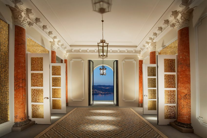 Palace Hotel - Burgenstock Hotels & Resort - Obburgen, Switzerland - Hotel Lobby Night Lakeview