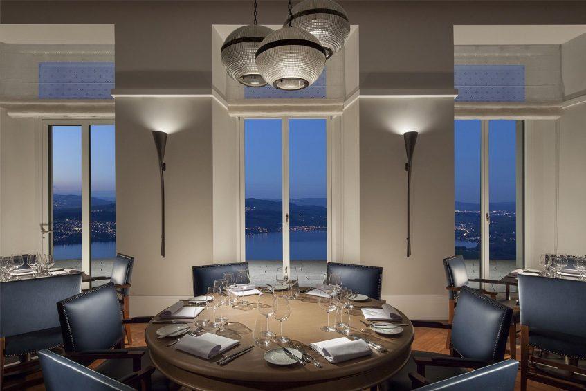Palace Hotel - Burgenstock Hotels & Resort - Obburgen, Switzerland - Ritzcoffier Restaurant Night Lakeview