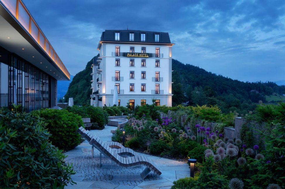 Palace Hotel - Burgenstock Hotels & Resort - Obburgen, Switzerland - Palace Hotel at Night
