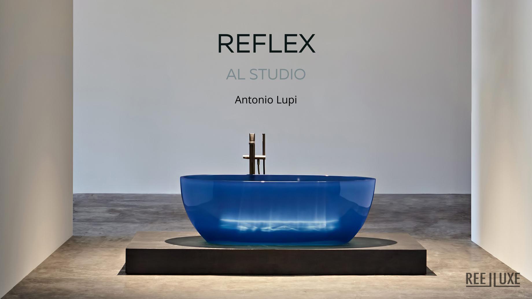 REFLEX Cristalmood Transparent Bathtub AL Studio - Antonio Lupi