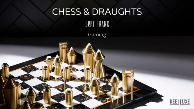 Chess & Draughts Luxury Designer Board Game Collection - Bert Frank