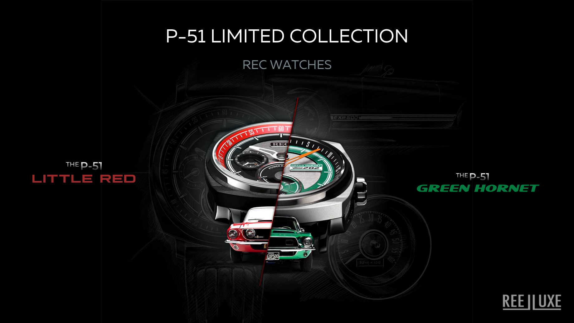P-51 Little Red & Green Hornet Limited Collection - REC Watches
