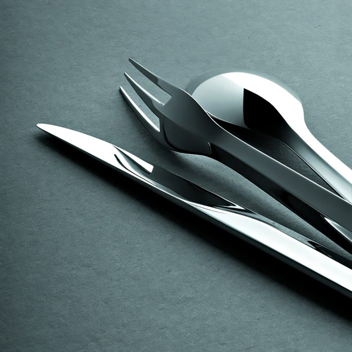 Zermatt Stainless Steel Cutlery Collection Puiforcat Paris - Patrick Jouin