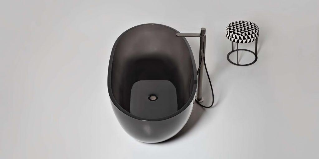 REFLEX Cristalmood Transparent Bathtub AL Studio - Antonio Lupi - Fume