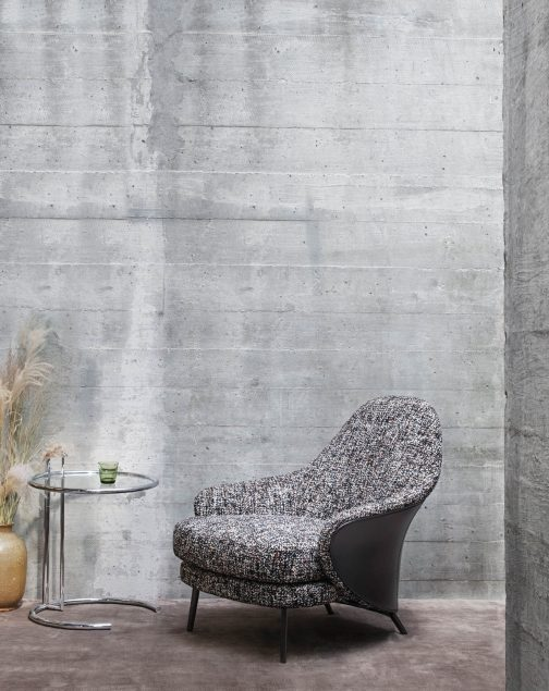 Angie Armchair Collection, a Sculptural Gesture Minotti Italy - GamFratesi