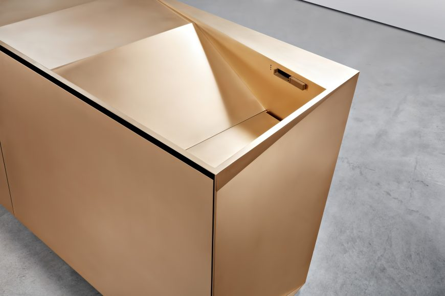 FOLD Iconic Origami Kitchen Block Design - Martin Steininger - Folding takes on a functional form