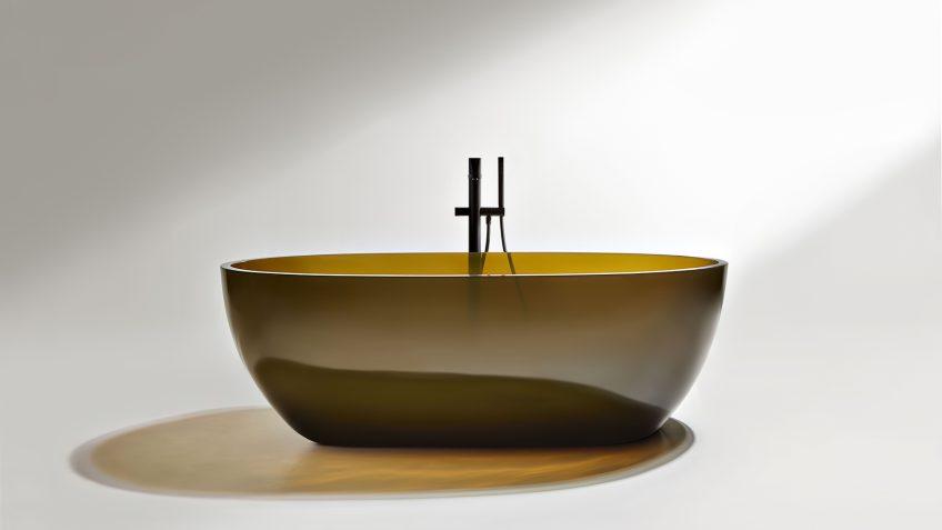 REFLEX Cristalmood Transparent Bathtub AL Studio - Antonio Lupi - Gran Cru