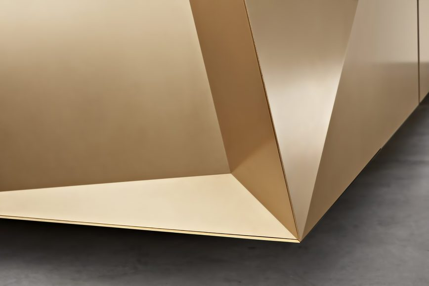 FOLD Iconic Origami Kitchen Block Design - Martin Steininger - High quality metals and alloys for an unique play of lights and forms