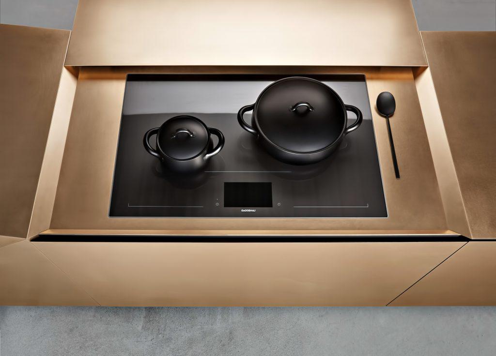 FOLD Iconic Origami Kitchen Block Design - Martin Steininger - Hob extension open