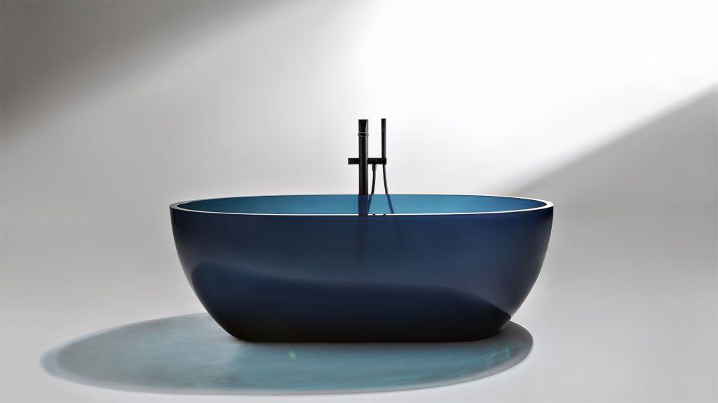 REFLEX Cristalmood Transparent Bathtub AL Studio - Antonio Lupi - Ceruleo