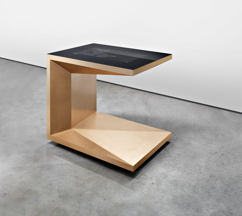 FOLD Iconic Origami Kitchen Block Design - Martin Steininger - M-POD Table 32-inch touchpad with specially hardened and optically bonded safety glass