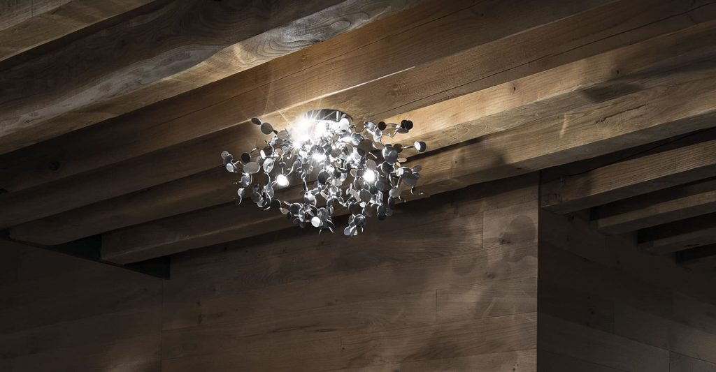 Argent, a Precious Cloud of Light Terzani Lighting Italy - Dodo Arslan - Suspension Light Silver