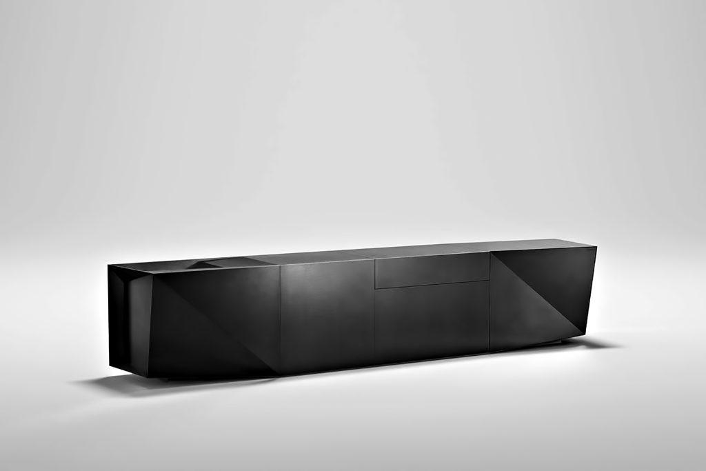 FOLD Iconic Origami Kitchen Block Design - Martin Steininger - Foreceful Black