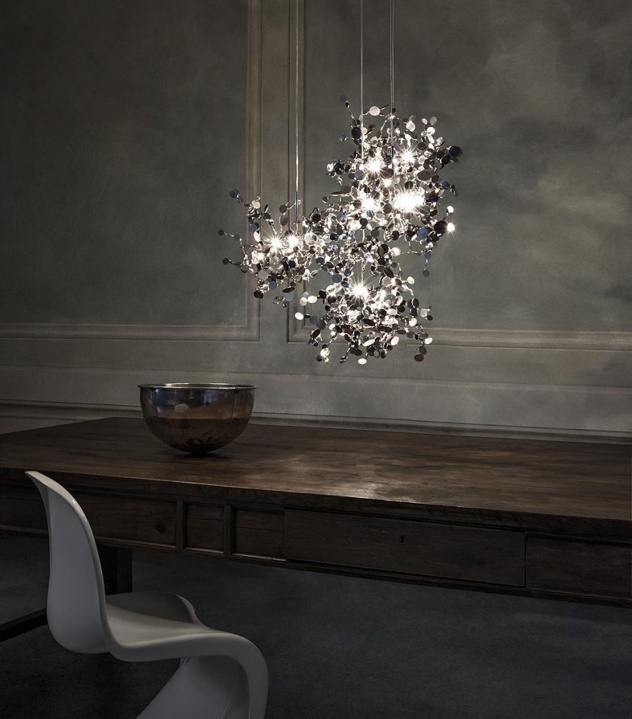 Argent, a Precious Cloud of Light Terzani Lighting Italy - Dodo Arslan - 3 Single Element Suspensions
