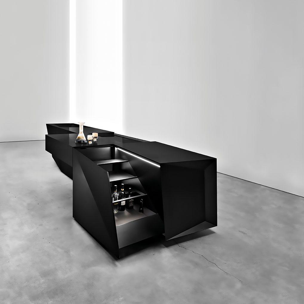 FOLD Iconic Origami Kitchen Block Design - Martin Steininger - Unforgettable Black