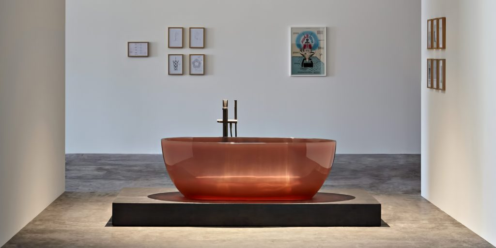 REFLEX Cristalmood Transparent Bathtub AL Studio - Antonio Lupi - Ginger