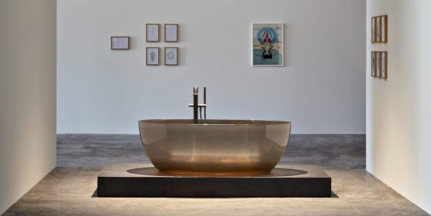 REFLEX Cristalmood Transparent Bathtub AL Studio - Antonio Lupi - Nebbia