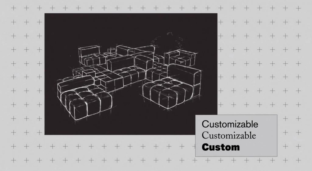 Camaleonda Classic Sofa Collection B&B Italia - Mario Bellini - Custom