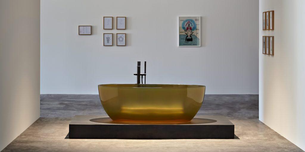REFLEX Cristalmood Transparent Bathtub AL Studio - Antonio Lupi - Ocra
