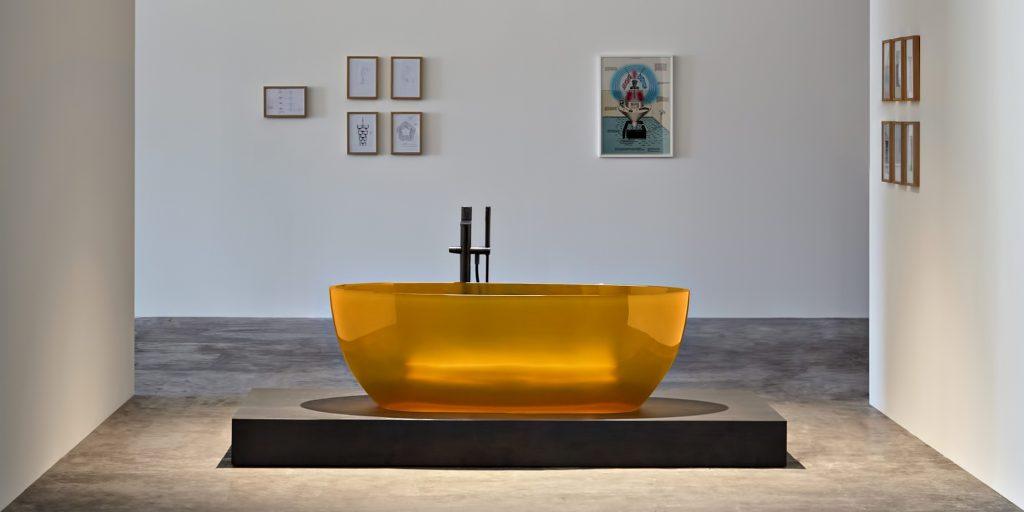 REFLEX Cristalmood Transparent Bathtub AL Studio - Antonio Lupi - Ambra
