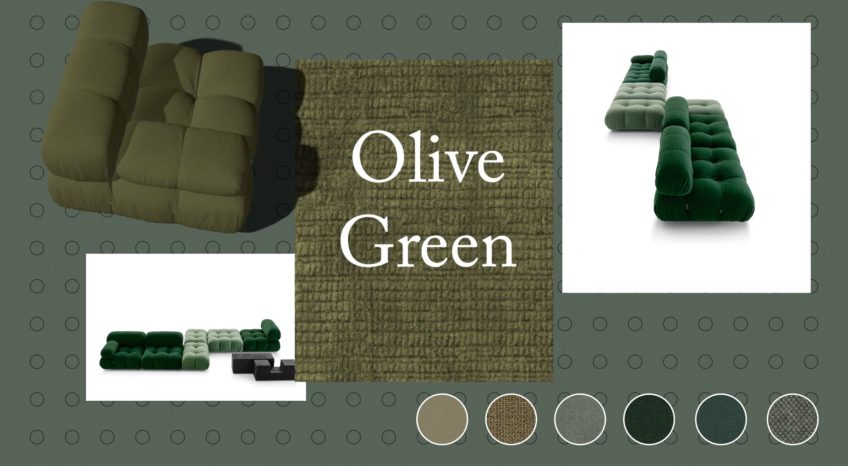 Camaleonda Classic Sofa Collection B&B Italia - Mario Bellini - Olive Green
