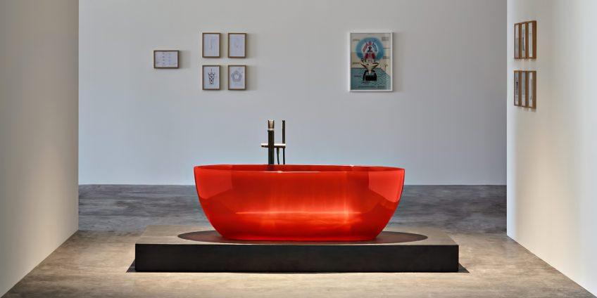 REFLEX Cristalmood Transparent Bathtub AL Studio - Antonio Lupi - Sangria