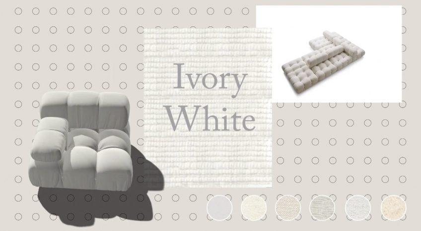Camaleonda Classic Sofa Collection B&B Italia - Mario Bellini - Ivory White