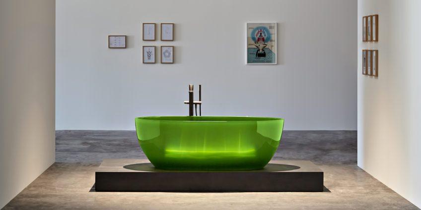 REFLEX Cristalmood Transparent Bathtub AL Studio - Antonio Lupi - Lime