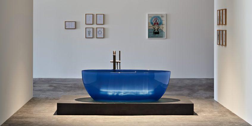 REFLEX Cristalmood Transparent Bathtub AL Studio - Antonio Lupi - Cobalto