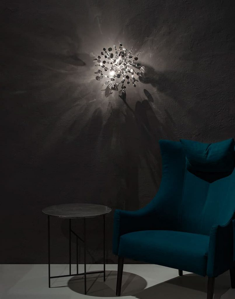 Argent, a Precious Cloud of Light Terzani Lighting Italy - Dodo Arslan - Shimmering Cloud Light Silver Wall