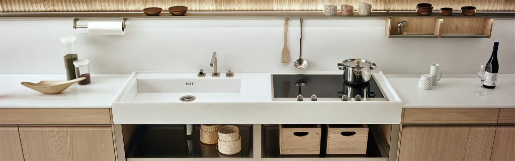 K-lab Contemporary Kitchen Ernestomeda Italy - Giuseppe Bavuso - Dual Cooking and Washing MonoBloc