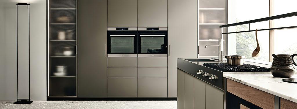 K-lab Contemporary Kitchen Ernestomeda Italy - Giuseppe Bavuso - METALLIX