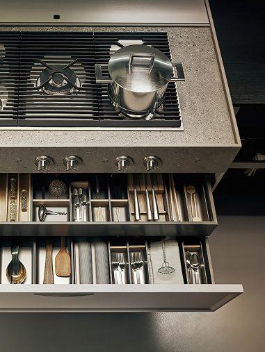 K-lab Contemporary Kitchen Ernestomeda Italy - Giuseppe Bavuso - Surf System