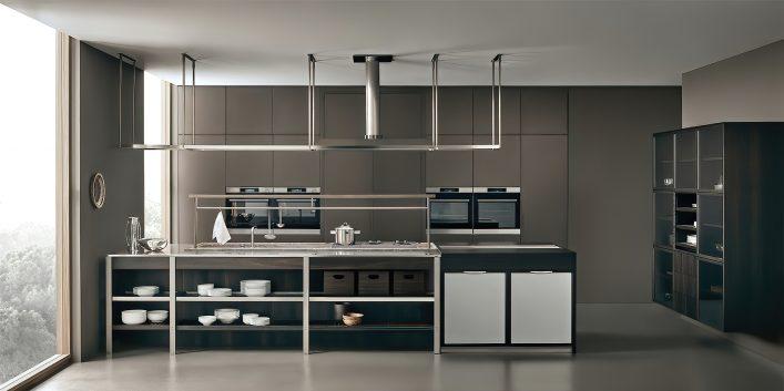 K-lab Contemporary Kitchen Ernestomeda Italy - Giuseppe Bavuso - K-System Island Kitchen Hood