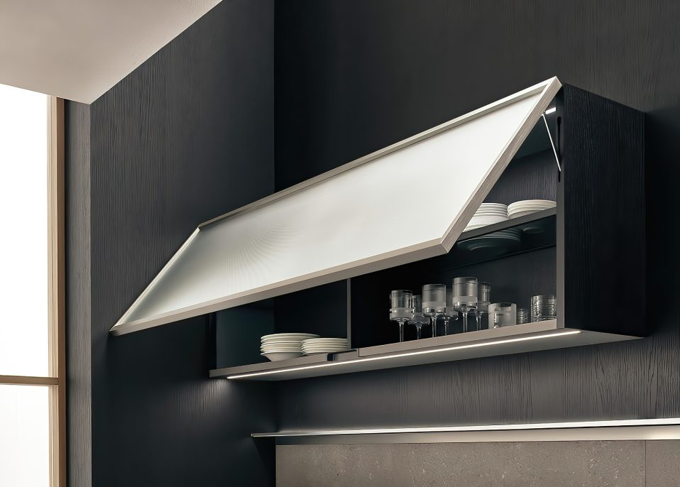 K-lab Contemporary Kitchen Ernestomeda Italy - Giuseppe Bavuso - Inline Wall Unit