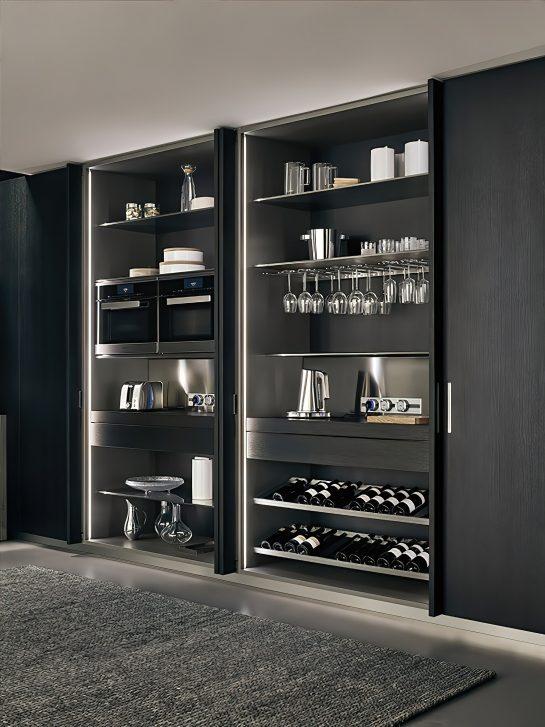 K-lab Contemporary Kitchen Ernestomeda Italy - Giuseppe Bavuso - Indoor Cupboard